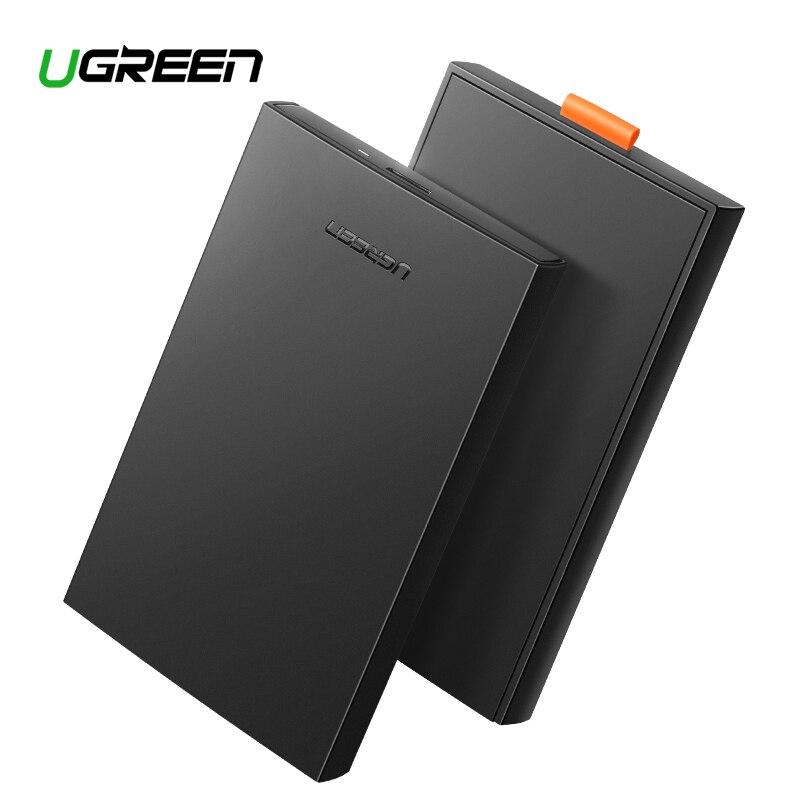 Ugreen 2,5 HDD carcasa SATA a USB 3,0 adaptador carcasa de disco duro externo para disco HDD caja HD 2,5 SSD carcasa SATA a USB
