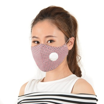 Adult washable cotton PM2.5 mask reusable dust masks protective mask filters