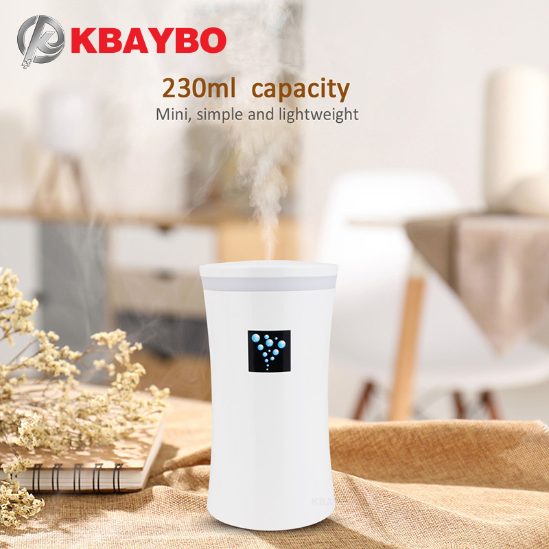 KBAYBO USB Humidifier Car Diffuser Humidifier Ultrasonic Humidifier Air Diffuser With LED Night Light Mist Maker For Home Office