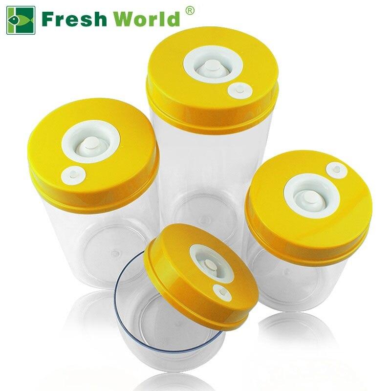 Recipientes de vácuo de alimentos de cozinha conjuntos de manter fresco vasilha (2200 ml + 1600 ml + 1000 ml + 700 ml, bomba de vácuo elétrica onsale)