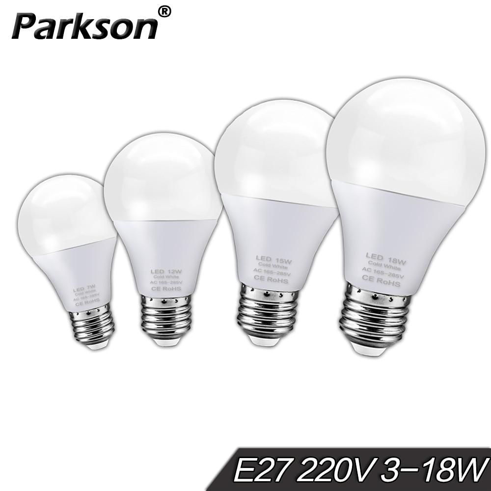 E27 LED Light Bulb 220V 3W 6W 9W 12W 15W 18W Real Watts Cold Warm White Lampada LED Lamp Table Ampoule Bombillas