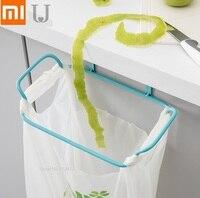 Xiaomi Cabinet door back Trash bag holder Iron hook Kitchen plastic bag hook up Hanging type Trash rack