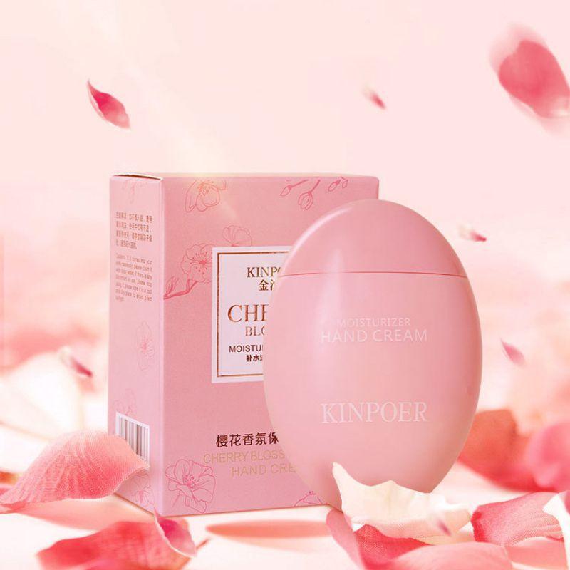 Cherry Blossom Goose Egg Hand Cream Moisturizing Anti-Aging Skin Whitening Hand Cream Skin care Nourishing cream Hand Care
