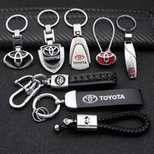 3D металлический/кожаный автомобильный брелок для стайлинга для Toyota Chr rav4 Yaris prius avensis Corolla Camry автомобильный брелок для ключей аксессуары