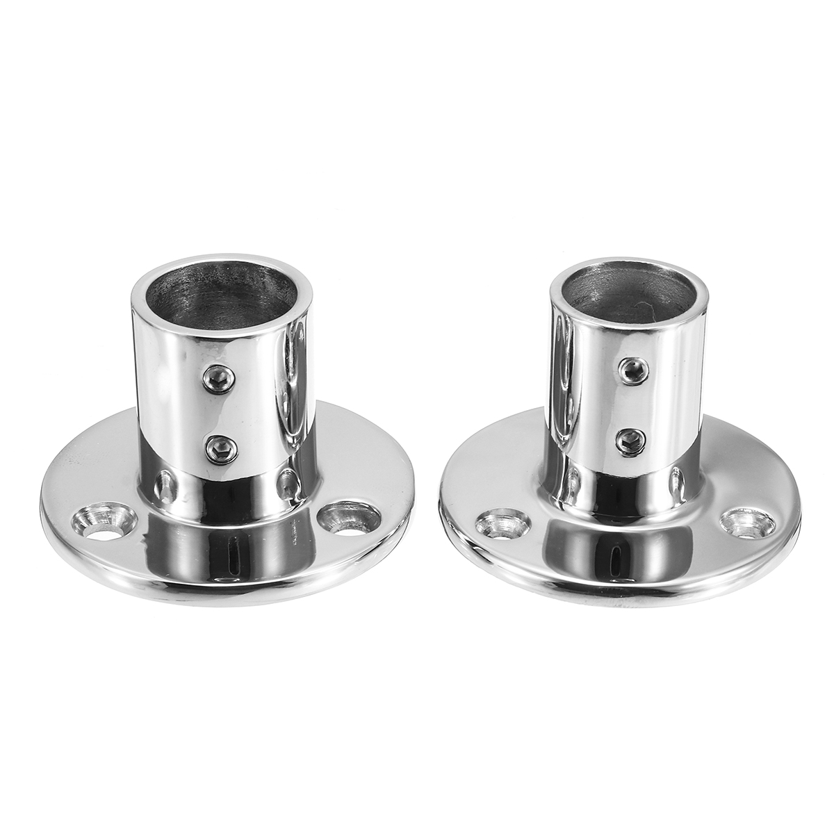 Boat Tube Pipe Base 316 Stainless Steel Marine 90° Railing Handrail Pipe Base Fitting Support Durable Rust-resistant Hardware