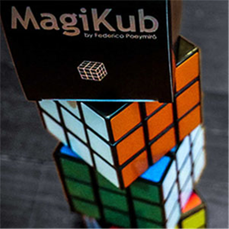 MAGIKUB By Federico Poeymiro (Gimmick And Online Instructions) - Trick Mentalism Magic Street Fun Illusion Cube Props
