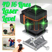 Laser Level 4D 16 Lines LED Display Laser Level Auto Self Leveling 360° Rotary Measure Cross Waterproof Green Light Levels