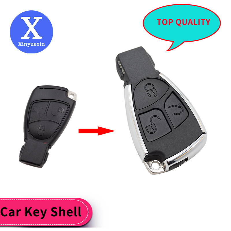 Xinyuexin Uncut Blade New Modified New Smart Remote <font><b>Key</b></font> Shell 3 Button for <font><b>Mercedes</b></font> Benz B C E S ML CLK CL <font><b>W203</b></font> Super Quality image