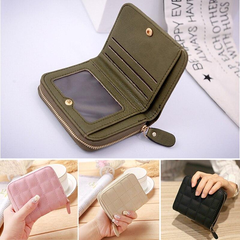 Women Ladies Wallet Leather Zip Coin Women Ladies Wallet Leather Zip Coin Purse Clutch Handbag Small Mini Card Holder Carteira