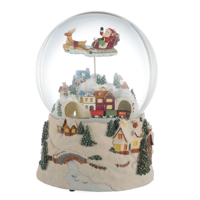 Noël boîte à musique boule de cristal créatif rotatif flocon de neige filles cadeaux d'anniversaire saint valentin cadeaux