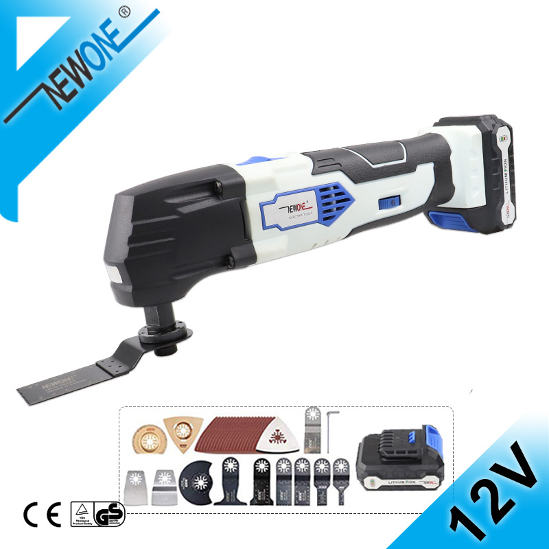 NEWONE 12V Electric Multi Trimmer Saw With Oscillating Saw Blades  Cordless Multi-Tool Renovator Tools Set With Lithium Battery