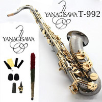 New Japan Yanagisawa Tenor Saxophone T 992 model Bb black gold saxophone with Musical Instruments Accessories 4C Mouthpieces