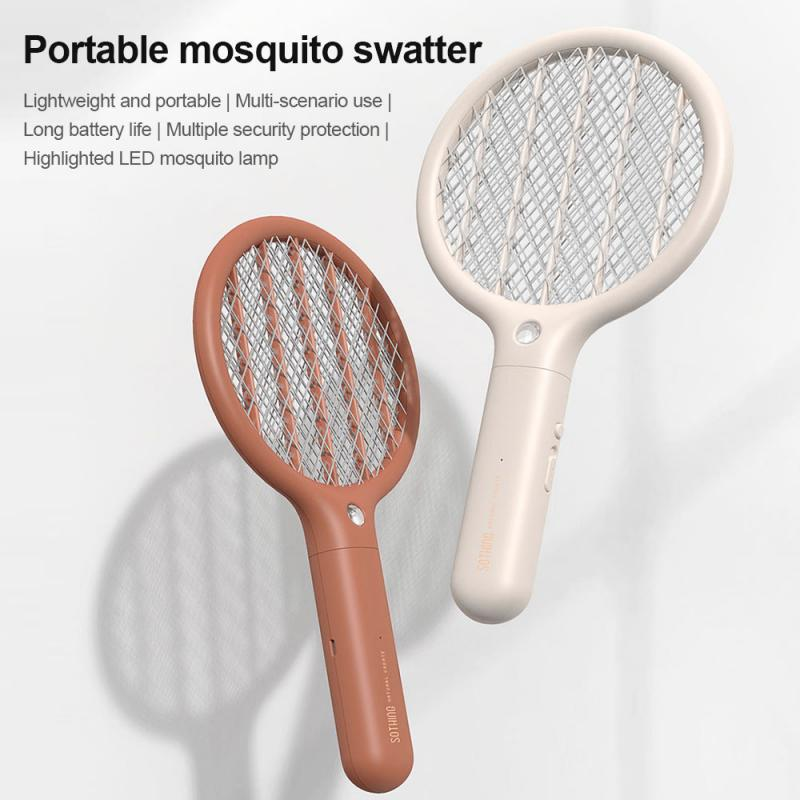 Portable Electric Mosquito Swatter Long Endurance Mini USB Charging Function Powerful Small Mosquito Killer Home Sleep Protector
