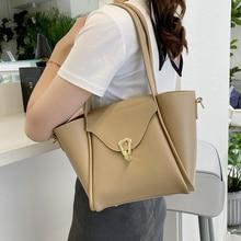 Luxury Soft Leather Shoulder Composite Bags for Women Large Capacity Messenger Handbag Ladies Hot Sale Pure Color Crossbody Bag