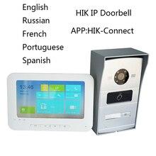 HIK IP видеосвязь комплект, многоязычный HD, RFID панель и WiFi монитор, IP дверной звонок, водонепроницаемый