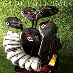 Golf Clubs 410 Complete Set g 410 Golf Full Set Driver + Fairway Woods + Irons + Putter R/S/SR Flex Shaft With Head Cover