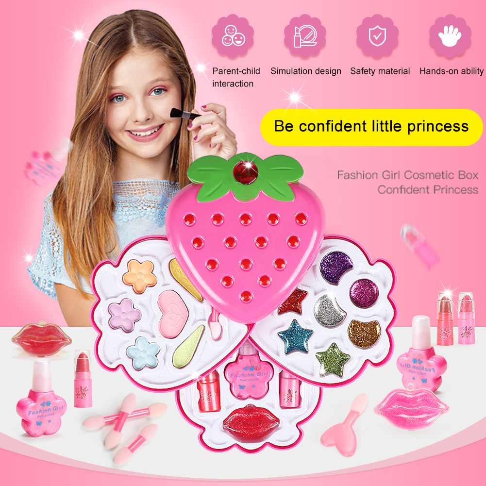 Pretend Princess Play Girls Makeup Tools Kit Safe Non-toxic Toys Make Up Sets Kids Beauty Toy For Children Girl Toys