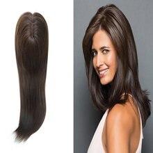 Горячая Распродажа коричневый моно верхний парик для женщин