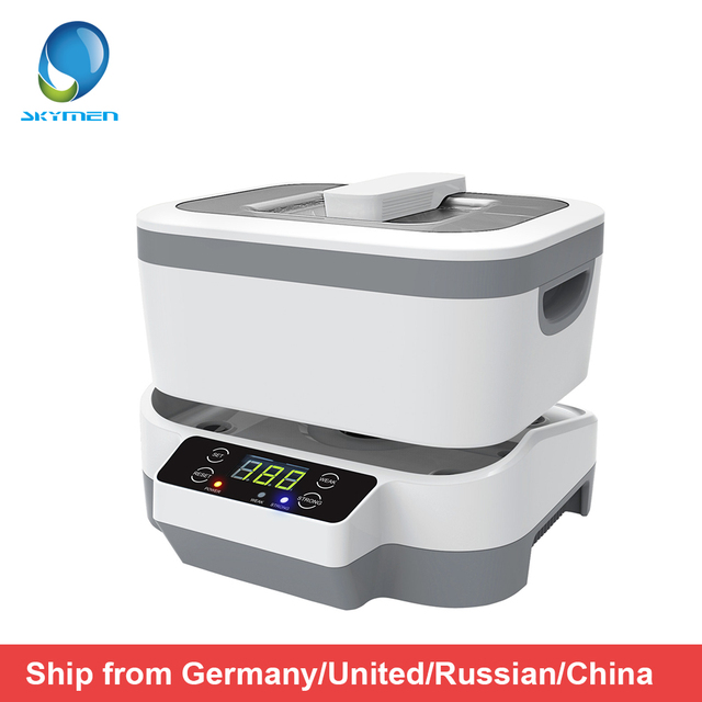 Limpiador ultrasónico Digital para joyería y relojes, con cestas, limpiador Dental de 1,2 L, 70W, 40kHz, 220V/110V, ultrasónico para Baño