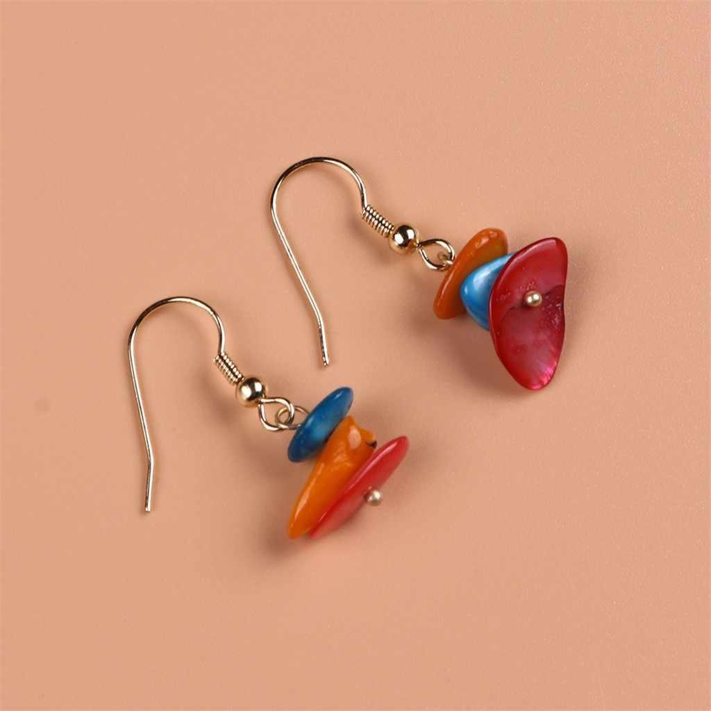 Mode européenne et américaine coquilles créatif Simple tissé à la main boucles d'oreilles bohème crochet boucles d'oreilles bijoux cadeau pendientes mujer