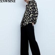 Атласная Блузка с принтом животных теплая блузка воротником