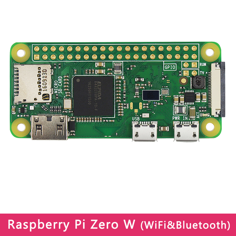 Original Raspberry Pi Zero W Board with WIFI  amp  Bluetooth 1GHz CPU 512MB RAM Optional USB Add-on Board Acrylic Case for RPI Zero