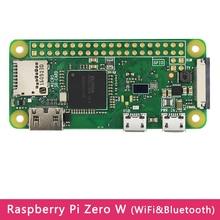 Orijinal ahududu Pi sıfır W kurulu WIFI ve Bluetooth ile 1GHz CPU 512MB RAM isteğe bağlı USB ekleme kurulu için akrilik kılıf RPI sıfır
