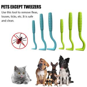 AUGKUN 3pcs Flea Removal Tool Hook Louses Pliers Remover Hook Cat Dog Bunny Horse Pet Comb Tool Accessories Tick Picker(China)