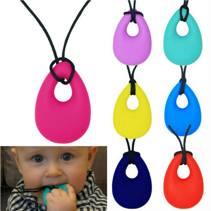 2019 Baby Feeding Accessories Kids Baby Chewy Necklace Anti Autism ADHD Biting Sensory Chew Teething Toys Solid Pacifier Care