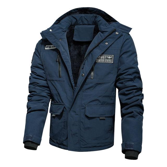 Winter Jacket Men Fleece Warm Hooded Coats Military Tactical Windbreaker Jackets