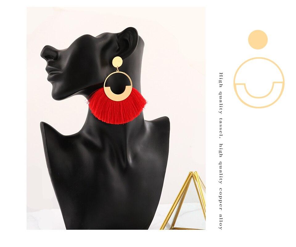 Blinla, Mode Bohéme, Grand Gland, Boucles D'Oreilles, Femmes,