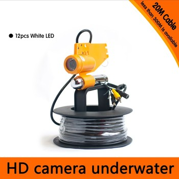 Submarine & Fishing 20m to 150m Cable  CCD Underwater Camera 1