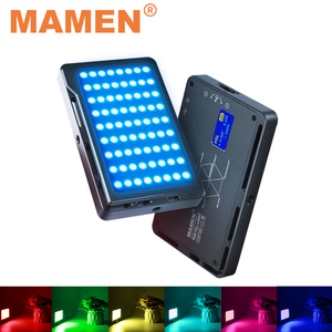 MAMEN 72R RGB 1000K-9000K Photographic Lighting Rechargeable 4000 mAh With 72 LEDs For Studio Youtube Selfie Video Fill Light