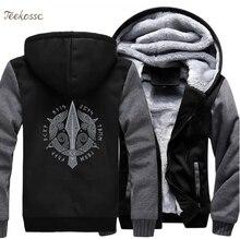 Odin Vikingsผู้ชายViking Berserkerสไตล์แจ็คเก็ต 2018 แบรนด์ฤดูหนาวWARM Fleece Hip Hop Hooded Sweatshirtเสื้อHomme 5XL