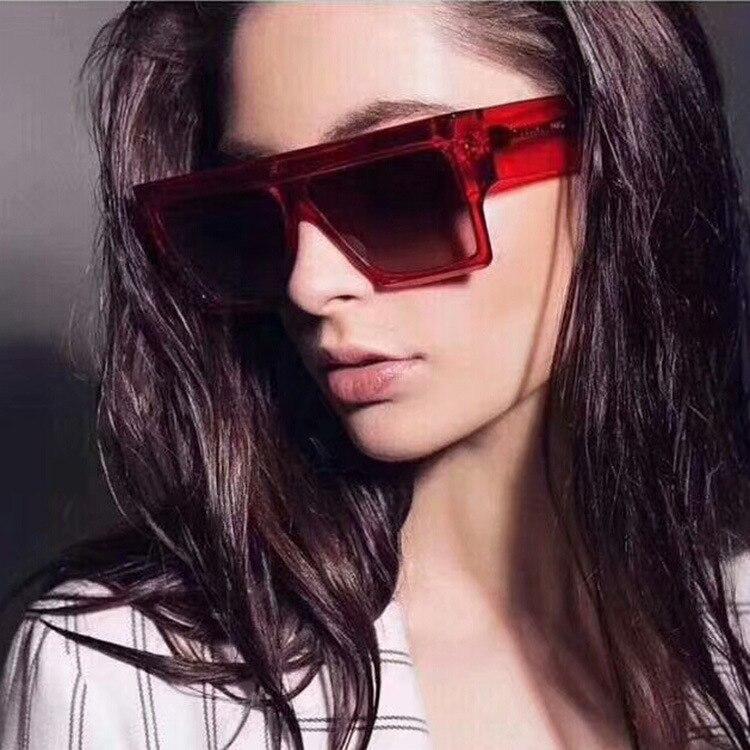 ZXRCYYL 2019 NEW Fashion Classic Sunglasses Luxury Men Women Brand  Designer Large Square Gradient UV400