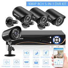 Security-Camera Surveillance-System Dvr-Kit Outdoor Home-Video H.265 Weatherproof 1080p