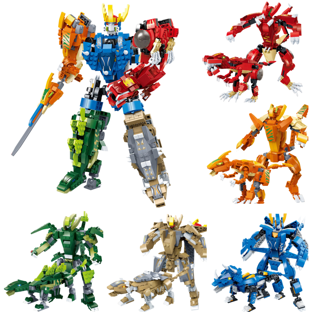 Pour LEGOing créateur 5-en-1 ensemble modèle 10 Types modifiables Mech dinosaure armure Robot jouet briques pour enfants cadeau pour LEGOing créateur