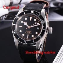 цена на 41mm corgeut black dial luminous Sapphire Glass Automatic mens diving Watch C05