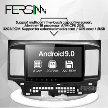 Fersinny CYS1060 2G Octa Core Android 9,0 para Mitsubishi Lancer multimedia estéreo GPS Radio coche dvd gps player stereo gps(China)