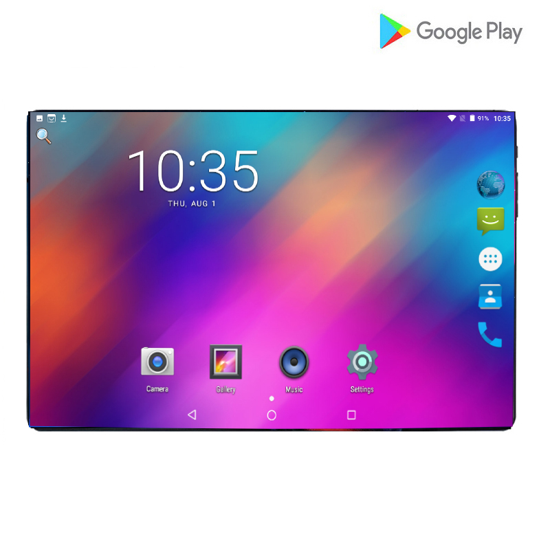 2019 New 10.1 Inch 3G 4G LTE Tablet PC Octa Core 6GB RAM 64GB ROM 1280*800 IPS 2.5D Tempered Glass 10 Tablets Android 9.0 +Gifts
