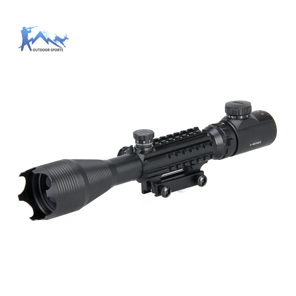 PPT Riflescopes Tactical 4-16*50EG Rifle Scope Sight Airsoft Gun With 21.2mm Picatinny Rail Mount In Hunting Optics OS1-0344