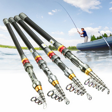Portable Telescopic Fishing Rod Spinning Fish Carbon Fiber 1.8M-3.0M Spinning Ultra-Light Hand Carp Fishing Tackle Sea Rod двуспальная кровать первый мебельный катрина 1 6
