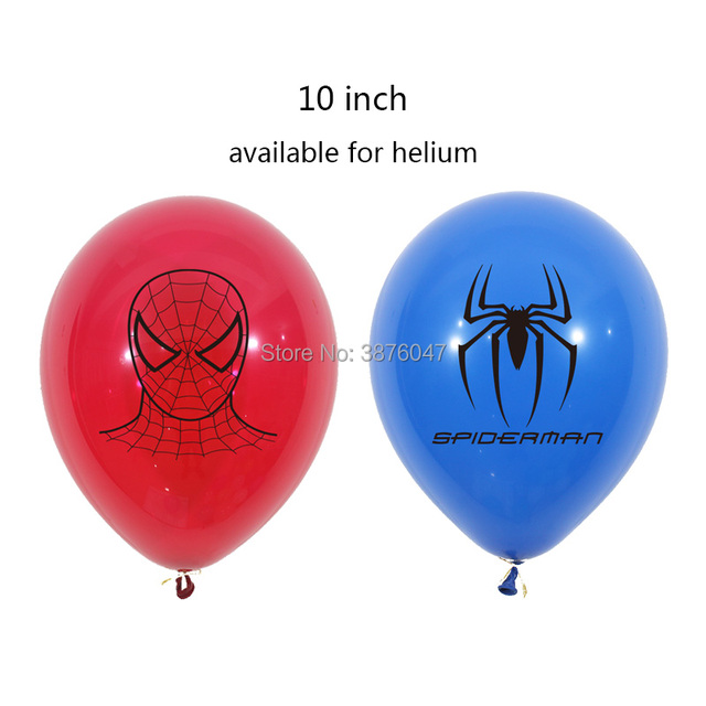 3d spiderman balloons kids boy super hero birthday spiderman party decorations happy birthday spider mask printed balloons 2