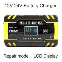 FOXSUR 12V 24V 8A Automatische Smart Batterie Ladegerät, 3-bühne smart Batterie Ladegerät, auto Batterie Ladegerät für GEL NASS AGM Batterie