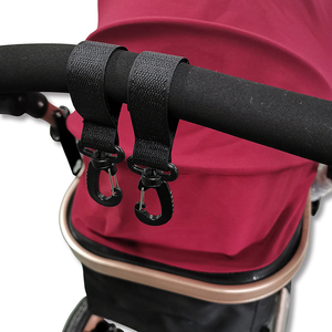 2pcs Safety Stroller Accessory Hooks Wheelchair Stroller Pram Bag Hook Baby Strollers Shopping Bag Clip Car hook baby