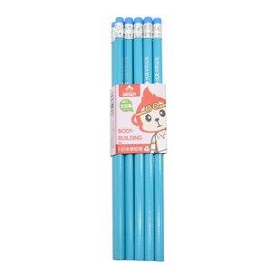 Image 5 - 100 шт Классический Новый Одноцветный бревенчатый карандаш с резиновым креплением HB пишущий карандаш для обучения рисованию канцелярские товары