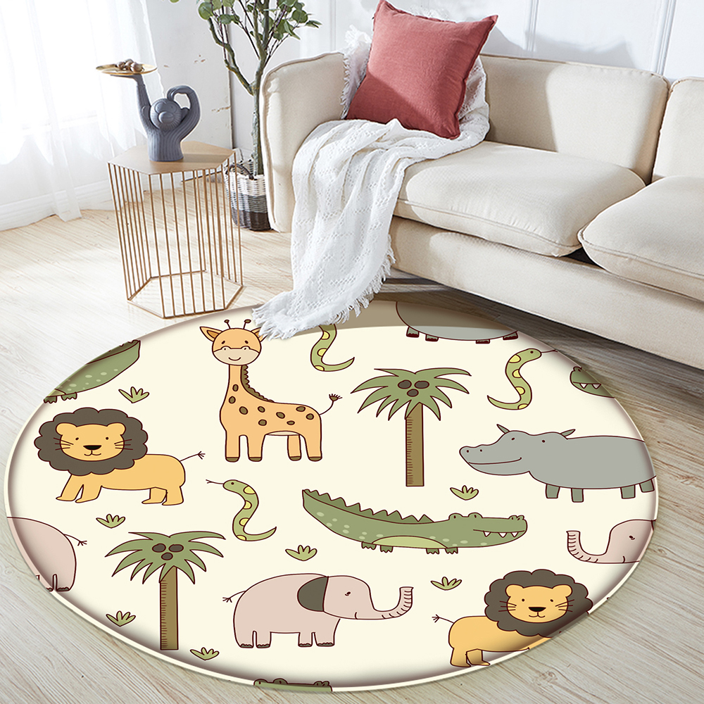 Rug Carpet Animal Baby Children's-Room Puzzle-Game Rectangular Play Flannel for in The