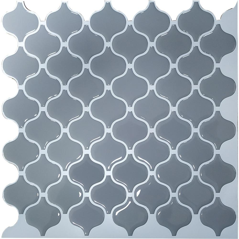 Farol gris autoadhesivo peel and stick tile backsplash deflector 3D mosaico empapelado etileno cocina baño decoración DIY Mosaico azul de diamantes, azulejos de cocina, Adhesivo de pared, resistente al aceite impermeable, papel de pared de baño autoadhesivo, decoración del hogar, 60*200cm