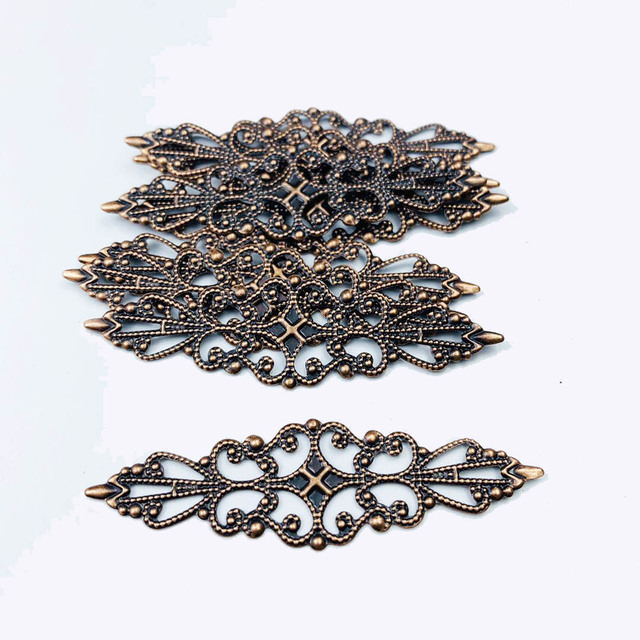 10-20Pcs 2*6.5cm Filigree Metal Connector For Jewelry Making DIY Accessories Pendant