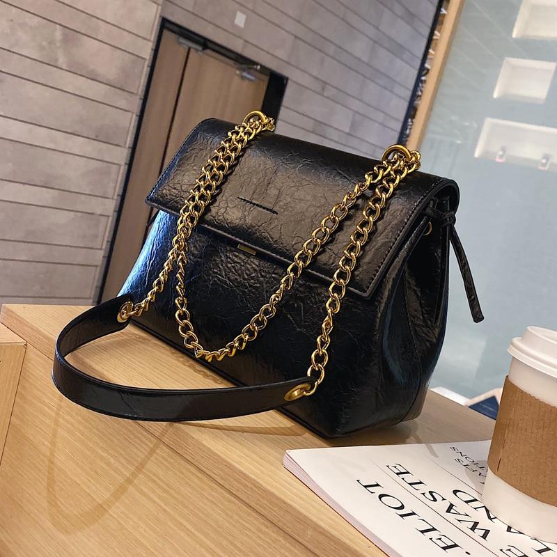 Vintage Fashion Female Tote Bag 2019 New High Quality PU Leather Women's Designer Handbag Lock Chain Shoulder Messenger Bag